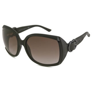 Gucci Women's GG3511 Dark Brown/Brown Rectangular Sunglasses
