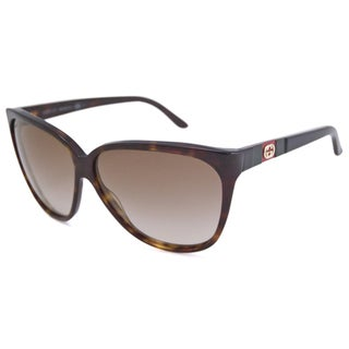 Gucci Women's GG3539 Cat-Eye Havana/Brown Sunglasses