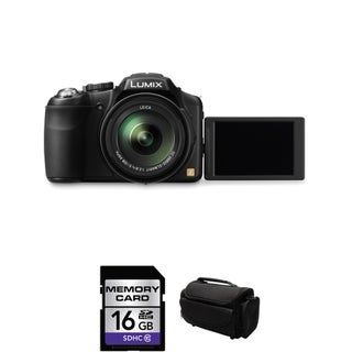 Panasonic Lumix FZ200 12.1MP Black Digital Camera 16GB Bundle