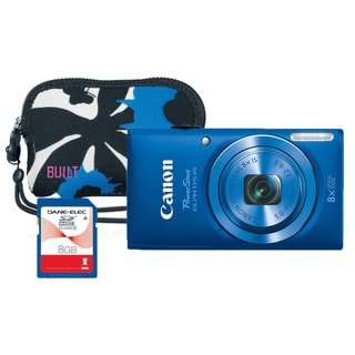 Canon Elph 115 16MP Blue Digital Camera Bundle