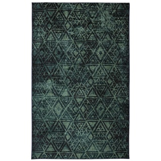 Indie Pattern Blue Green Rug (8' x 10')