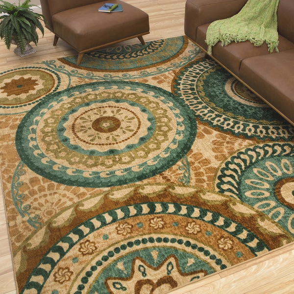 Mohawk Home Forest Rings Multi Rug 5 X 8 15342249
