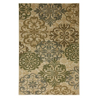 Guilded Medallions Beige Rug (8' x 10')