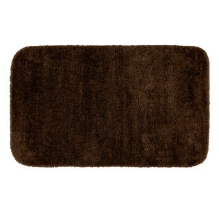 Plush Deluxe Espresso Washable Bath Rug