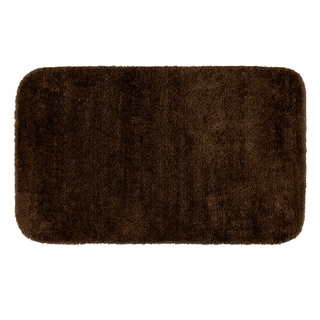 Somette Plush Deluxe Chocolate 30 x 50 Washable Bath Rug
