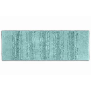 Westport Stripe Sea Glass Washable Bath Runner