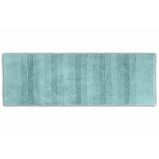 Westport Stripe Sea Glass Washable Bath Runner