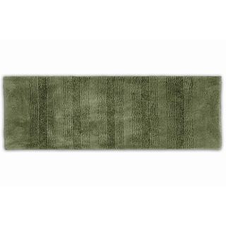 Westport Stripe Beach Grass Washable Bath Runner