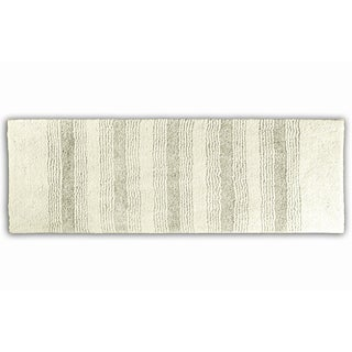 Westport Stripe Chalk Washable Runner Bath Rug