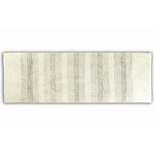 Westport Stripe Chalk Washable Bath Runner