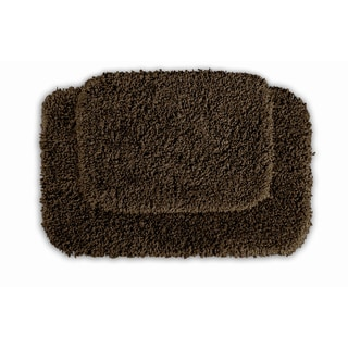 Serenity Chocolate 2-piece Bath Rug Set