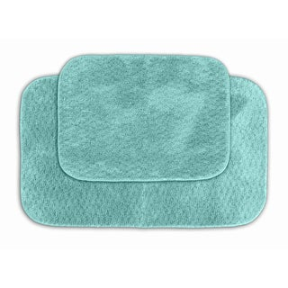 Enliven Textured Seafoam Bath Rug 2-piece Set