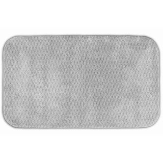 Enliven Platinum Grey Textured 30x50 Bath Rug