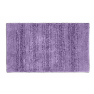 Westport Stripe Purple Washable Bath Rug