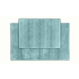 Westport Stripe Sea Glass Washable Bath Rug (Set of 2)