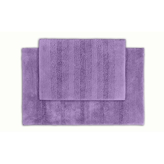 Westport Stripe Periwinkle Washable Bath Rug (Set of 2)