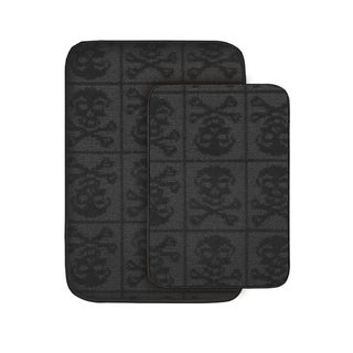 Jolly Roger Black Bath Rug Set of 2