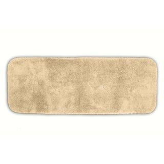 Somette Posh Plush Ecru Washable Bath Runner