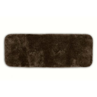 Posh Plush Cafe Noir Washable 22x60 Bath Rug