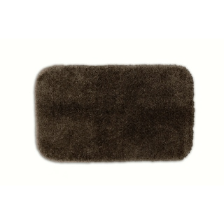 Posh Plush Cafe Noir Washable Chocolate Bath Rug