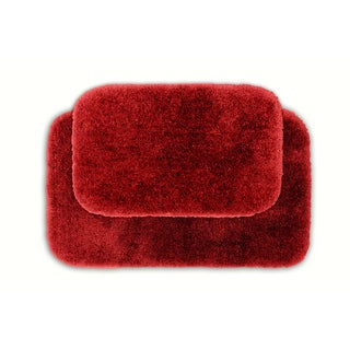 Posh Plush Garnet Washable Bath Rug Set of 2