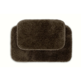 Posh Plush Cafe' Noir Washable Bath Rug Set of 2