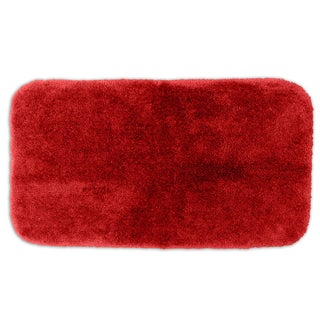 Posh Plush Garnet Red Washable 30x50 inch Bath Rug
