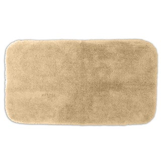 Posh Plush Ecru Washable 30x50 inch Bath Rug