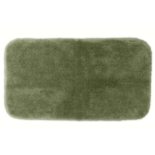 Posh Plush Silver Sage Washable 30x50 inch Bath Rug
