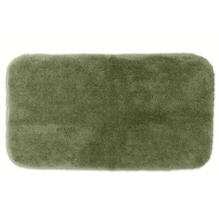 Somette Posh Plush Silver Sage Washable 30 x 50 Bath Rug