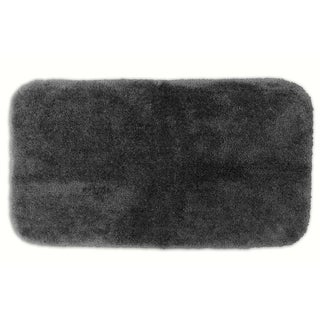Posh Plush Charcoal Washable 30x50 inch Bath Rug