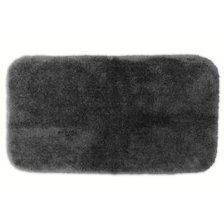 Somette Posh Plush Charcoal Washable 30x50 inch Bath Rug