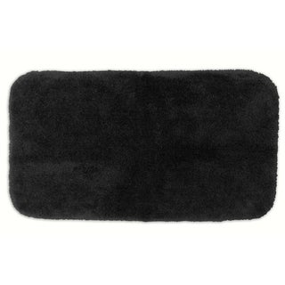 Posh Plush Onyx Washable 30x50 inch Bath Rug