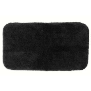 Somette Posh Plush Onyx Washable 30x50 inch Bath Rug
