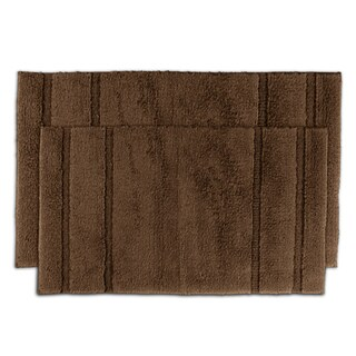 Tranquility Cotton Chocolate Bath Rug 2-piece Set