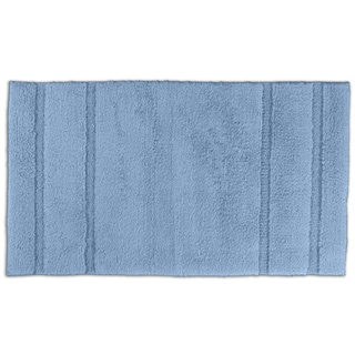 Tranquility Cotton Sky Blue Bath Rug