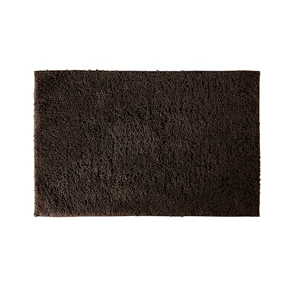 Somette Grace Chocolate 21 x 40 Cotton Bath Rug