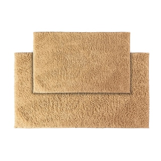 Grace Natural Cotton Bath Rug Set of 2