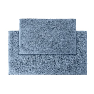 Grace Sky Blue Cotton 2-piece Bath Rug Set