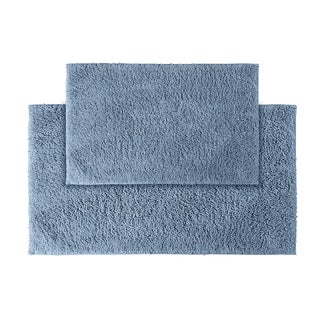 Grace Sky Blue Cotton Bath Rug (Set of 2)