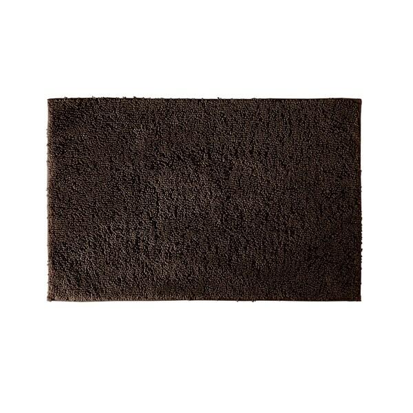 Somette Grace Chocolate Cotton 30x50 Bath Rug