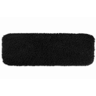 Serenity Plush Black 22 x 60 Bath Runner