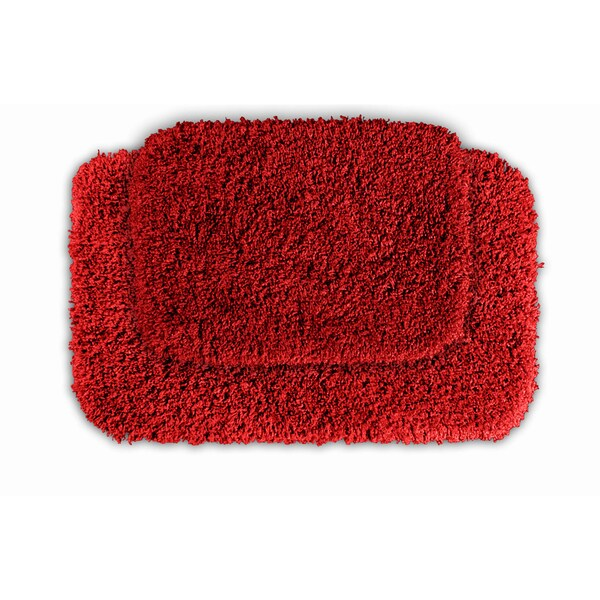 Somette Serenity Chili Pepper Red 2-piece Bath Rug Set
