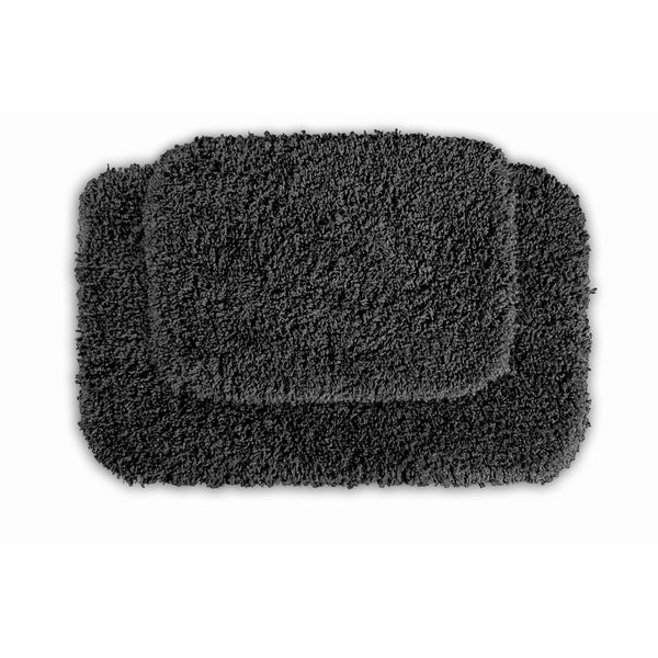 Somette Serenity Dark Grey Bath Rug (Set of 2)