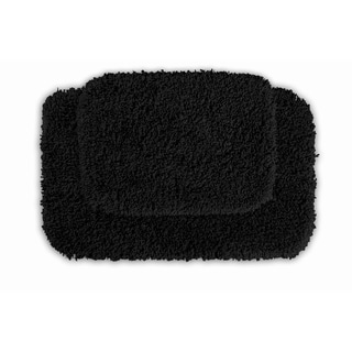 Serenity Black 2-piece Bath Rug Set
