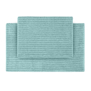 Xavier Stripe Sea Foam 2-piece Bath Rug Set