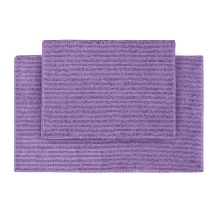 Xavier Stripe Amethyst Bath Rugs (Set of 2)