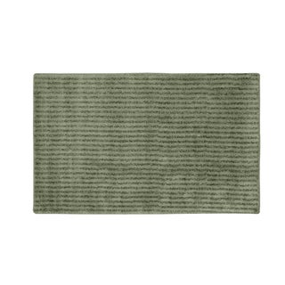 Somette Xavier Stripe Deep Fern 30x50 Bath Rug