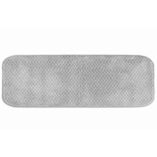 Enliven Textured Platinum Grey Bath Runner