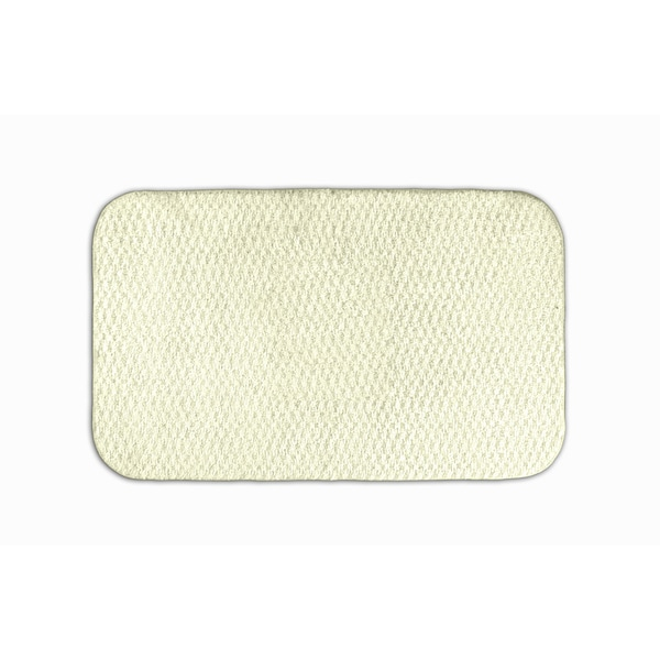 Somette Enliven Textured Ivory 24x40 Bath Rug
